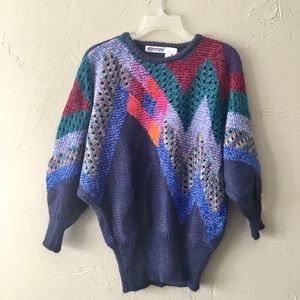 Vintage Mariea Kim multi colored abstract sweater